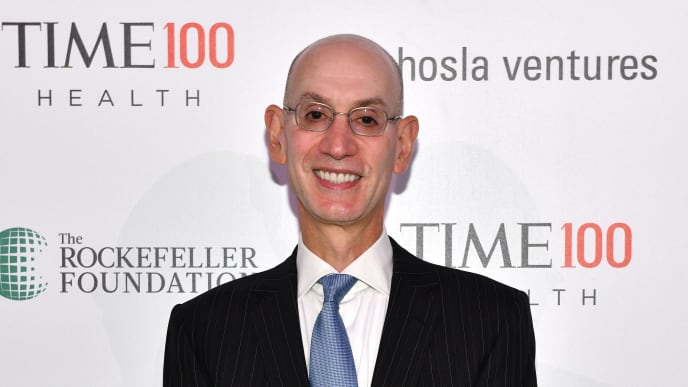 NEW YORK, NEW YORK - OCTOBER 17: Commissioner of the NBA, Adam Silver, arrives at the TIME 100 Health Summit at Pier 17 on October 17, 2019 in New York City. (Photo by Craig Barritt/Getty Images for TIME 100 Health Summit )