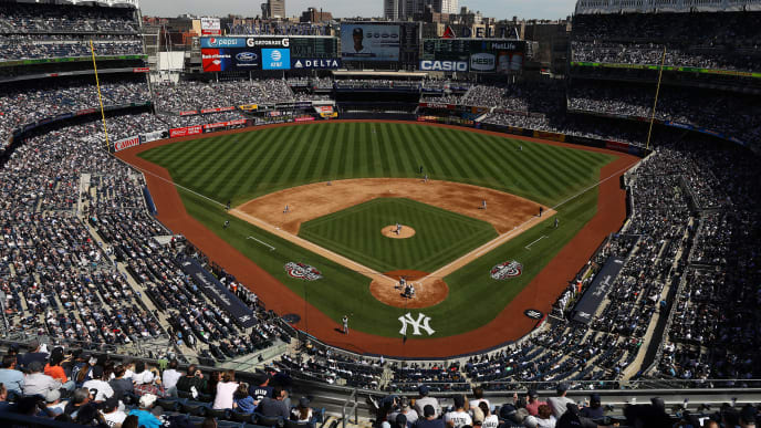 NEW YORK, NY - APRIL 10:  A General View of Michael Pineda #35 of the New York Yankees pitching against the Tampa Bay Rays during the New York Yankees home Opening game at Yankee Stadium on April 10, 2017 in New York City.  (Photo by Al Bello/Getty Images)