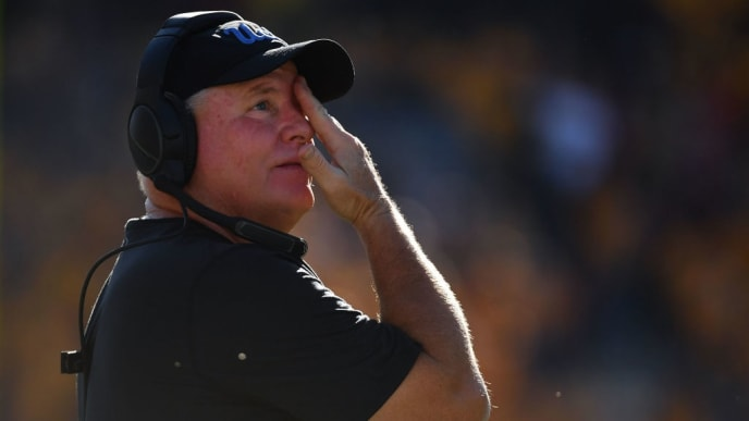 TEMPE, AZ - NOVEMBER 10:  Head coach Chip Kelly of the UCLA Bruins reacts during the game against the Arizona State Sun Devils at Sun Devil Stadium on November 10, 2018 in Tempe, Arizona.  (Photo by Jennifer Stewart/Getty Images)
