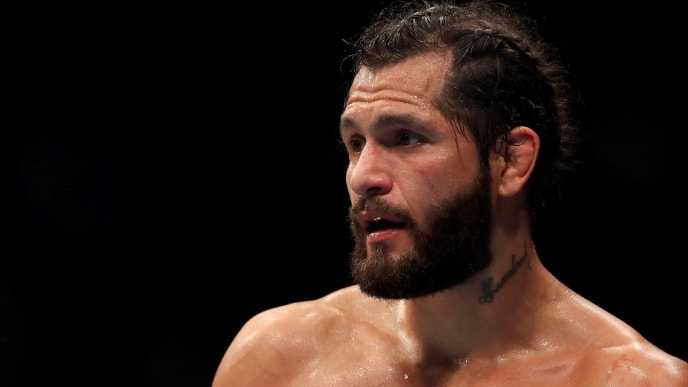 LONDON, ENGLAND - MARCH 16: Jorge Masvidal looks on during the Welterweight bout between Darren Till and Jorge Masvidal at The O2 Arena on March 16, 2019 in London, England. (Photo by James Chance/Getty Images)