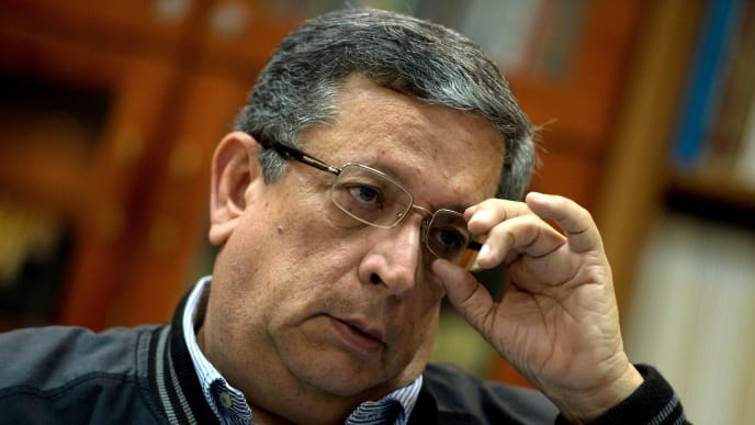 Juan Jose Avila, president of the Venezuelan Professional Baseball League, speaks to AFP during an interview in Caracas on September 12, 2017. While baseball is Venezuela's national sport, some fans are angry that the government, given the severity of the economic crisis and the political tension, will spend nearly ten million dollars on organizing the upcoming Winter League rather than on imports of food and medicine. / AFP PHOTO / FEDERICO PARRA        (Photo credit should read FEDERICO PARRA/AFP/Getty Images)