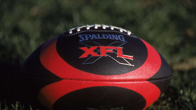 4 Jan 2001:  A general view of the official XFL Football during the Los Angeles Extreme Training Camp at the Sam Boyd Stadium in Henderson, Nevada.Mandatory Credit: Jeff Gross  /Allsport