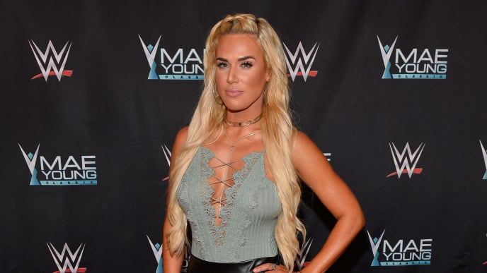 LAS VEGAS, NV - SEPTEMBER 12:  WWE Superstar Lana appears on the red carpet of the WWE Mae Young Classic on September 12, 2017 in Las Vegas, Nevada.  (Photo by Bryan Steffy/Getty Images for WWE)