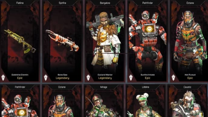 Apex Legends received new skins Tuesday, set to be released as part of the Legendary Hunt event.