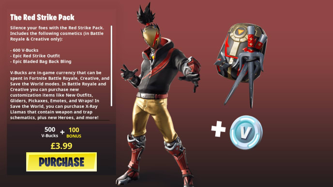 Fortnite gold mask skin, also known as Red Strike, is currently available in-game.