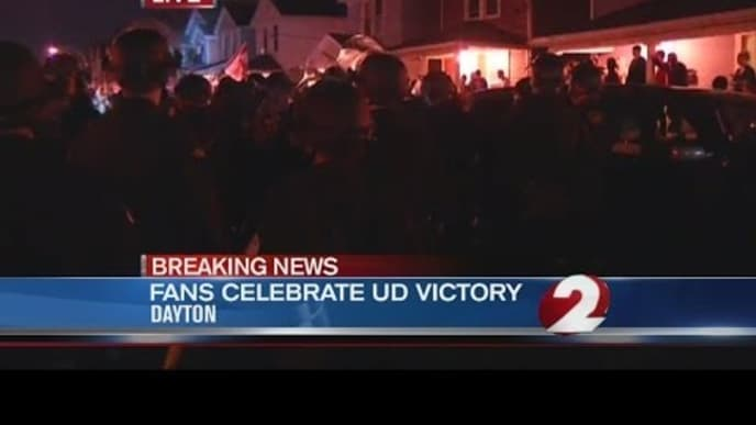Police respond to University of Dayton in riot gear after NCAA tourney win