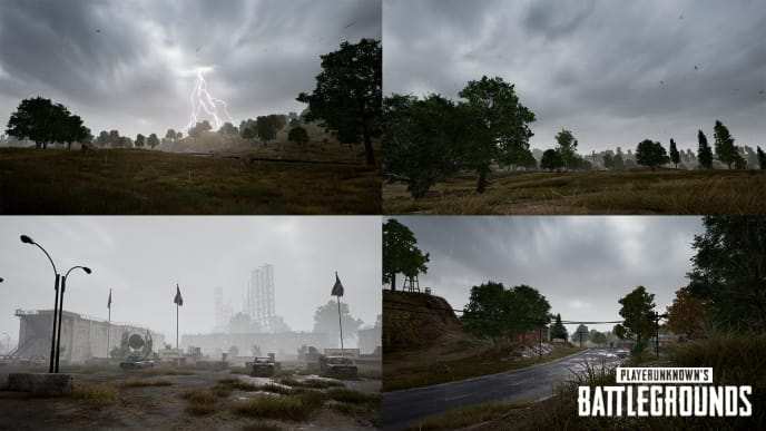 A PUBG bug discovered this week shows players can see two different versions of weather at once