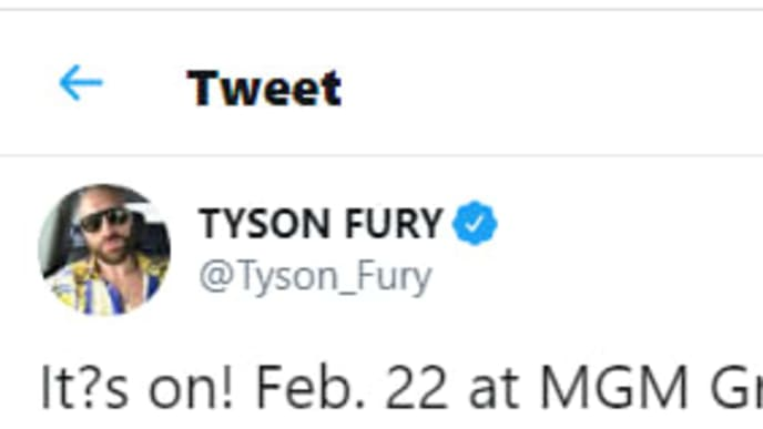 Tyson Fury's Twitter post claiming he is going to drop Deontay Wilder