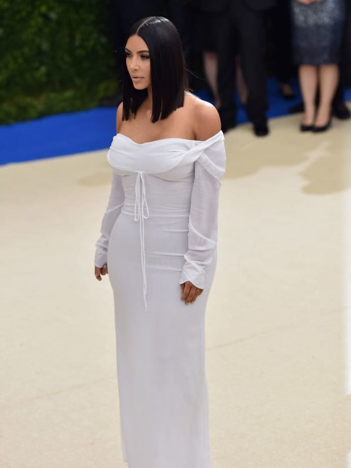 "NEW YORK, NY - MAY 01:  Kim Kardashian West attends the ""Rei Kawakubo/Comme des Garcons: Art Of The In-Between"" Costume Institute Gala at Metropolitan Museum of Art on May 1, 2017 in New York City.  (Photo by Theo Wargo/Getty Images For US Weekly)"