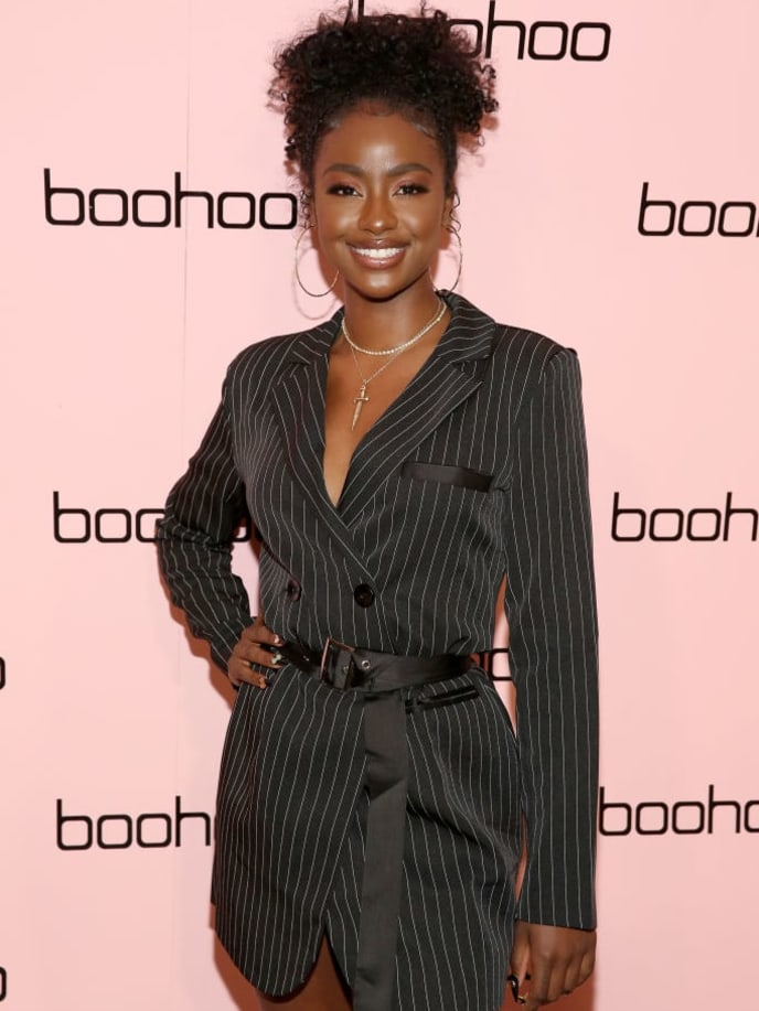NEW YORK, NEW YORK - SEPTEMBER 11: Justine Skye attends the boohoo NYFW celebration at the boohoo Mansion on September 11, 2019 in New York City. (Photo by Monica Schipper/Getty Images for boohoo)