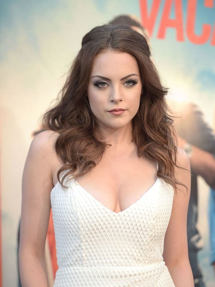 """WESTWOOD, CA - JULY 27:  Actress Elizabeth Gillies attends the premiere of """"Vacation"""" at Regency Village Theatre on July 27, 2015 in Westwood, California.  (Photo by Jason Kempin/Getty Images)"""