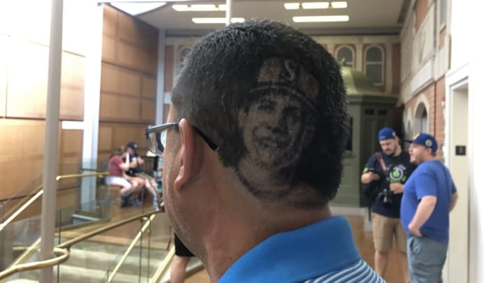 Cousin Pays Martinez Tribute With Hair Cut This cut allows guys with short hair to achieve a new style that is clean, fresh, and stylish. cousin pays martinez tribute with hair cut