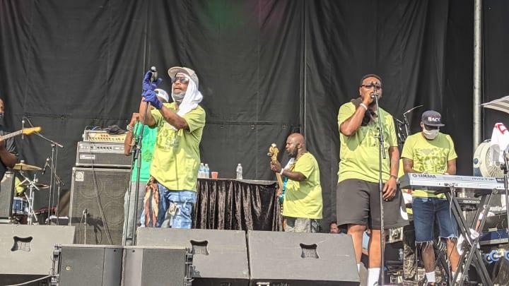 BackYard Band playing at National Cannabis Festival
