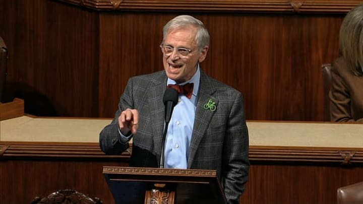 Earl Blumenauer, D-Ore., speaks on the floor of the U.S. House of Representatives