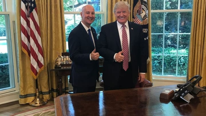 Nebraska Governor Pete Ricketts and Trump