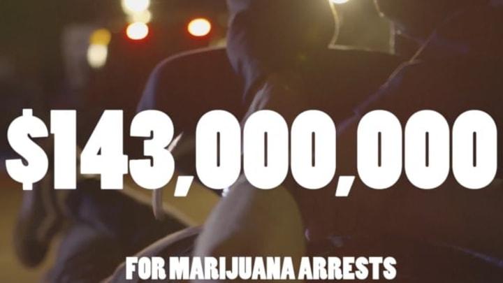 NJ spends $143 million dollars per year on marijuana arrests