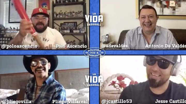 A screenshot image from the La Vida Baseball show Polvora, Voz y Diamante