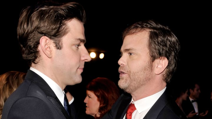 LOS ANGELES, CA - JANUARY 25:  Actor John Krasinski (L) and Rainn Wilson attend the 15th Annual Screen Actors Guild Awards cocktail party held at the Shrine Auditorium on January 25, 2009 in Los Angeles, California.  (Photo by Kevin Winter/Getty Images)