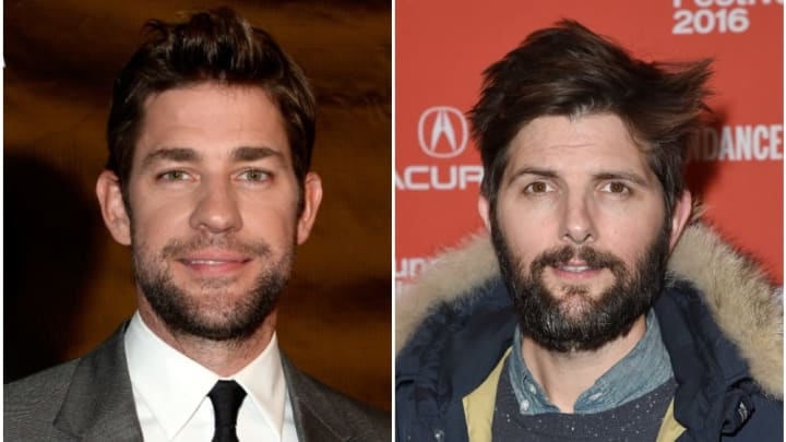 John Krasinski and Adam Scott via Getty Images