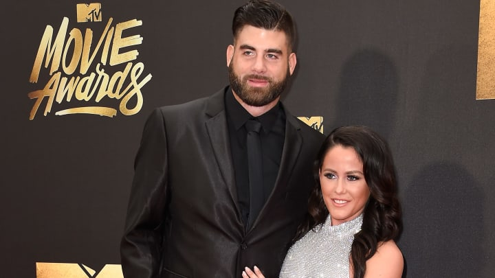 BURBANK, CALIFORNIA - APRIL 09:  TV personality Jenelle Evans (L) and David Eason attend the 2016 MTV Movie Awards at Warner Bros. Studios on April 9, 2016 in Burbank, California.  MTV Movie Awards airs April 10, 2016 at 8pm ET/PT.  (Photo by Frazer Harrison/Getty Images)
