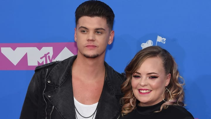 NEW YORK, NY - AUGUST 20:  Tyler Baltierra and Catelynn Lowell attend the 2018 MTV Video Music Awards at Radio City Music Hall on August 20, 2018 in New York City.  (Photo by Jamie McCarthy/Getty Images)