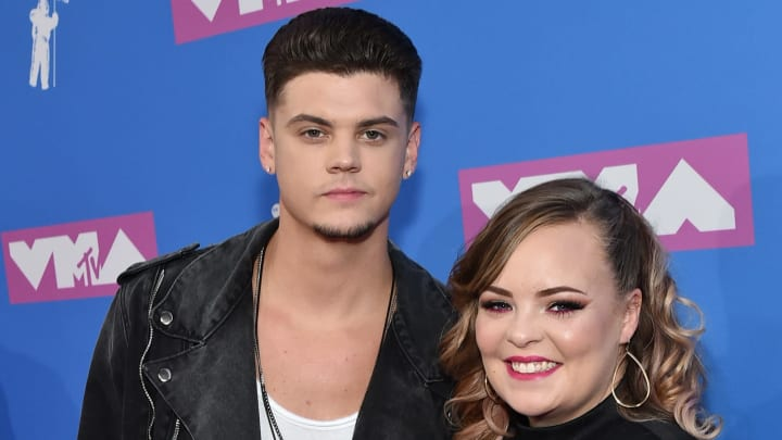 NEW YORK, NY - AUGUST 20:  Tyler Baltierra and Catelynn Lowell attend the 2018 MTV Video Music Awards at Radio City Music Hall on August 20, 2018 in New York City.  (Photo by Mike Coppola/Getty Images for MTV)
