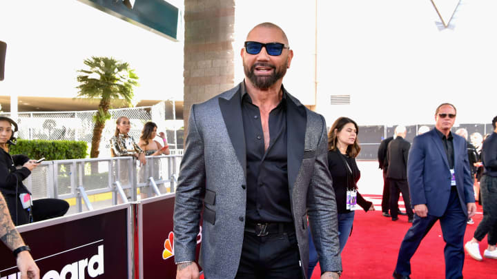 LAS VEGAS, NV - MAY 01:  Dave Bautista attends the 2019 Billboard Music Awards at MGM Grand Garden Arena on May 1, 2019 in Las Vegas, Nevada.  (Photo by Emma McIntyre/Getty Images for dcp)