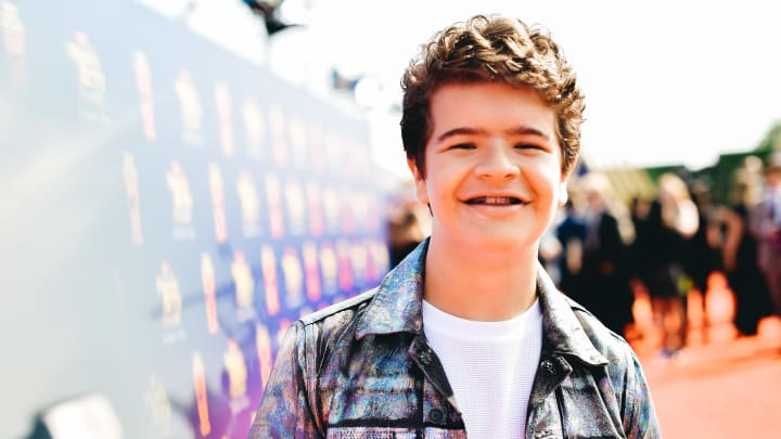 SANTA MONICA, CALIFORNIA - JUNE 15: (EDITORS NOTE: Image has been processed using digital filters)  Gaten Matarazzo attends the 2019 MTV Movie and TV Awards  at Barker Hangar on June 15, 2019 in Santa Monica, California. (Photo by Matt Winkelmeyer/Getty Images for MTV)