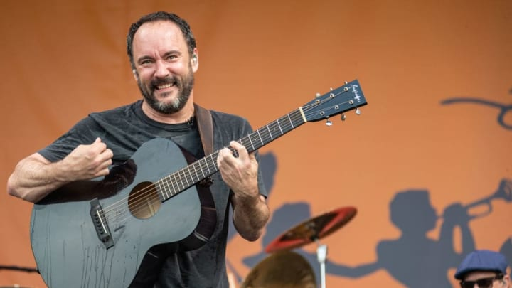 NEW ORLEANS, LOUISIANA - MAY 04:  The Dave Matthews Band performs during the New Orleans Jazz and Heritage Festival 2019 50th Anniversary at Fair Grounds Race Course on MAY 04, 2019 in New Orleans, Louisiana.  (Photo by Douglas Mason/Getty Images) (Photo by Douglas Mason/Getty Images)