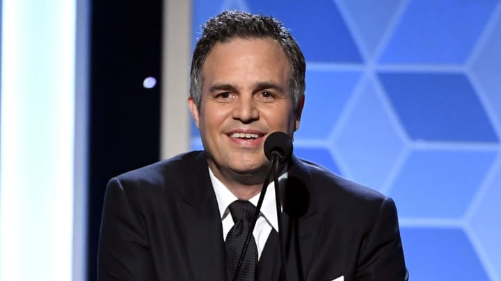 BEVERLY HILLS, CALIFORNIA - NOVEMBER 03:  Mark Ruffalo presents the Hollywood Blockbuster Award onstage during the 23rd Annual Hollywood Film Awards at The Beverly Hilton Hotel on November 03, 2019 in Beverly Hills, California. (Photo by Kevin Winter/Getty Images for HFA)