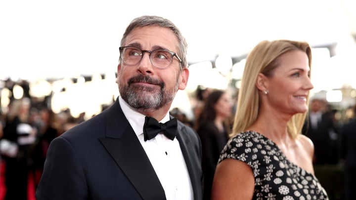 LOS ANGELES, CA - JANUARY 21:  Actors Steve Carell (L) and Nancy Carell attend the 24th Annual Screen Actors Guild Awards at The Shrine Auditorium on January 21, 2018 in Los Angeles, California. 27522_010  (Photo by Christopher Polk/Getty Images for Turner)