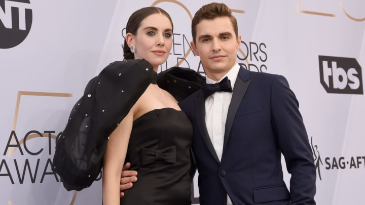 LOS ANGELES, CA - JANUARY 27:  Alison Brie and Dave Franco attend the 25th Annual Screen Actors Guild Awards at The Shrine Auditorium on January 27, 2019 in Los Angeles, California.  (Photo by Presley Ann/Getty Images)