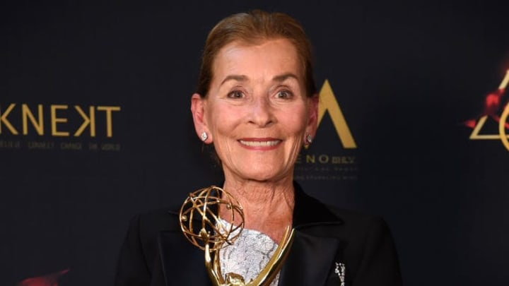 PASADENA, CALIFORNIA - MAY 05: Judge Judy poses with the Lifetime Achievement Award during the 46th annual Daytime Emmy Awards at Pasadena Civic Center on May 05, 2019 in Pasadena, California. (Photo by Gregg DeGuire/Getty Images)