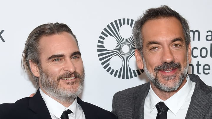 "NEW YORK, NEW YORK - OCTOBER 02: Joaquin Phoenix and Todd Phillips attend the 57th New York Film Festival ""Joker"" Arrivals at Alice Tully Hall, Lincoln Center on October 02, 2019 in New York City. (Photo by Jamie McCarthy/Getty Images for Film at Lincoln Center)"