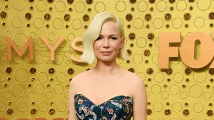 LOS ANGELES, CALIFORNIA - SEPTEMBER 22:   Michelle Williams attends the 71st Emmy Awards at Microsoft Theater on September 22, 2019 in Los Angeles, California.  (Photo by Kevin Mazur/Getty Images)