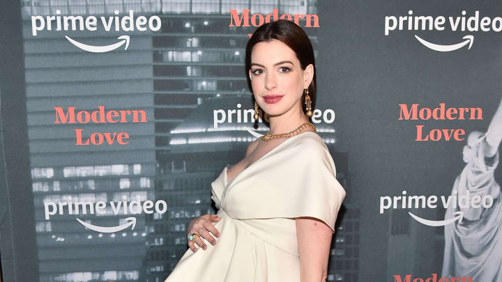 NEW YORK, NEW YORK - OCTOBER 10:  Anne Hathaway attends Amazon's Museum Of Modern Love on October 10, 2019 in New York City. (Photo by Theo Wargo/Getty Images)