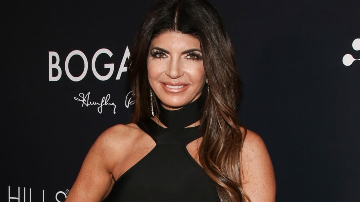 """LOS ANGELES, CALIFORNIA - SEPTEMBER 26:  Reality TV Personality Teresa Giudice attends the Beverly Hills Rejuvenation Center's """"Eternal Beauty"""" celebration on September 26, 2019 in Los Angeles, California. (Photo by Paul Archuleta/Getty Images)"""