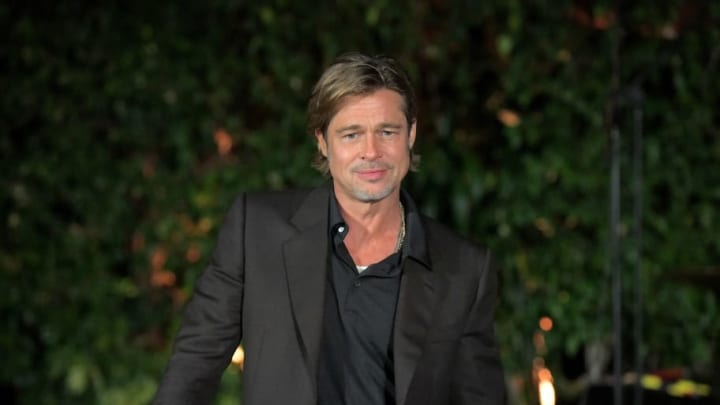 LOS ANGELES, CALIFORNIA - SEPTEMBER 24: Brad Pitt attends the squad dinner the Breitling Summit on September 24, 2019 in Los Angeles, California. (Photo by Charley Gallay/Getty Images for Breitling)