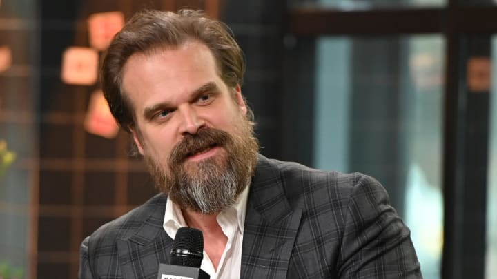 NEW YORK, NEW YORK - APRIL 08: David Harbour visits Build at Build Studio on April 08, 2019 in New York City. (Photo by Theo Wargo/Getty Images)