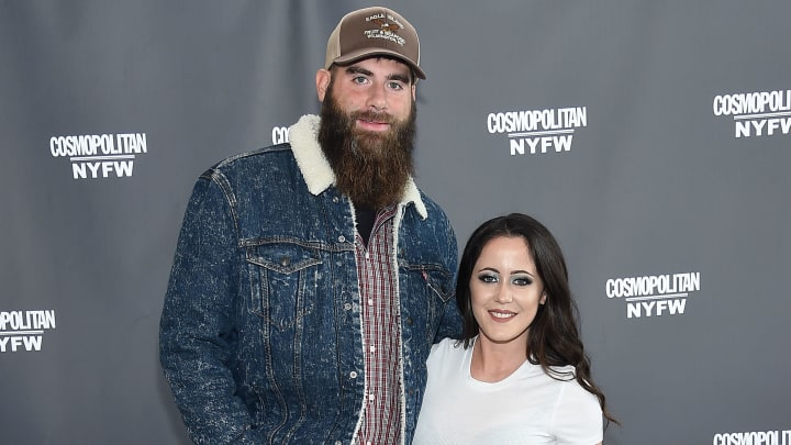 NEW YORK, NEW YORK - FEBRUARY 08: David Eason and Jenelle Eason attend the Cosmopolitan NYFW fashion show during New York Fashion Week at Tribeca 360 on February 08, 2019 in New York City. (Photo by Jamie McCarthy/Getty Images)