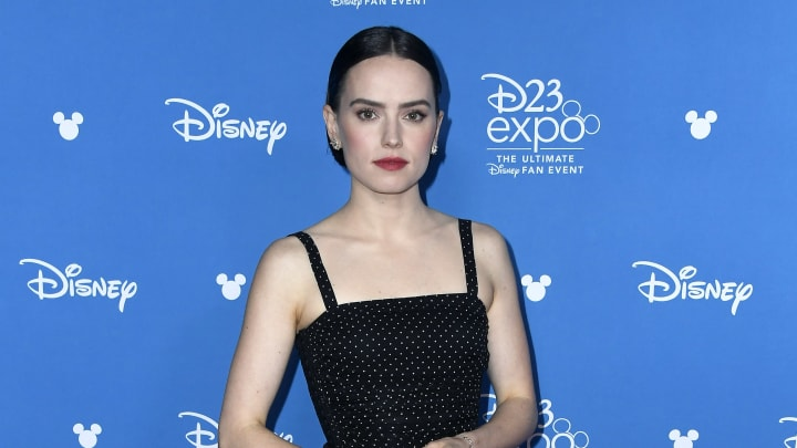 ANAHEIM, CALIFORNIA - AUGUST 24: Daisy Ridley attends Go Behind The Scenes with Walt Disney Studios during D23 Expo 2019 at Anaheim Convention Center on August 24, 2019 in Anaheim, California. (Photo by Frazer Harrison/Getty Images)