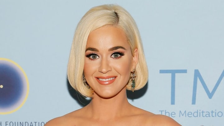 """WASHINGTON, DC - OCTOBER 11: Katy Perry attends the David Lynch Foundation's """"Silence the Violence"""" benefit at The Anthem on October 11, 2019 in Washington, DC. (Photo by Paul Morigi/Getty Images)"""
