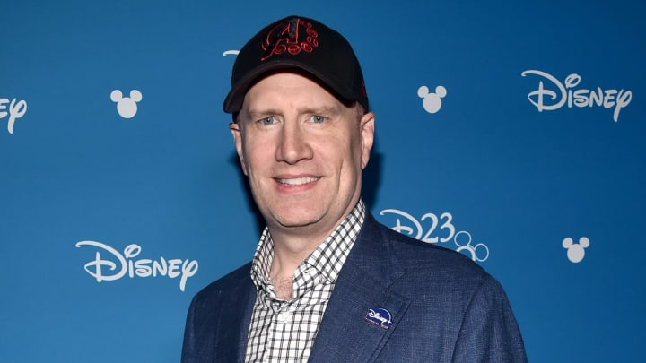 ANAHEIM, CALIFORNIA - AUGUST 23: President of Marvel Studios Kevin Feige took part today in the Disney+ Showcase at Disney's D23 EXPO 2019 in Anaheim, Calif.  (Photo by Alberto E. Rodriguez/Getty Images for Disney)