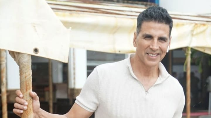 """MUMBAI, INDIA - AUGUST 3 : Indian actor Akshay Kumar attends the media interview  for movie promotion """"Mission Mangal"""" on August 3, 2019 in Mumbai, India. (Photo by Prodip Guha/Getty Images)"""