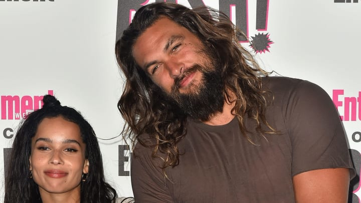 SAN DIEGO, CA - JULY 21:  (L-R) Zoe Kravitz and Jason Momoa attends Entertainment Weekly's Comic-Con Bash held at FLOAT, Hard Rock Hotel San Diego on July 21, 2018 in San Diego, California sponsored by HBO  (Photo by Jerod Harris/Getty Images)