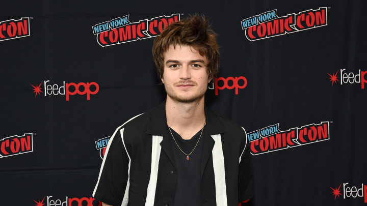 """NEW YORK, NEW YORK - OCTOBER 03: Joe Keery attends New York Comic Con in support of """"Free Guy"""" at The Jacob K. Javits Convention Center on October 03, 2019 in New York City. (Photo by Ilya S. Savenok/Getty Images for Twentieth Century Fox )"""