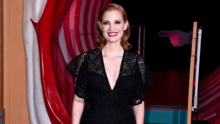 """LONDON, ENGLAND - SEPTEMBER 02: Jessica Chastain attends the """"IT Chapter Two"""" European Premiere at The Vaults on September 02, 2019 in London, England. (Photo by Eamonn M. McCormack/Getty Images)"""