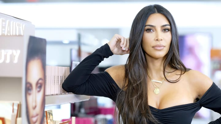 NEW YORK, NEW YORK - OCTOBER 24: Kim Kardashian attends KKW Beauty launch at ULTA Beauty on October 24, 2019 in New York City. (Photo by Dimitrios Kambouris/Getty Images for ULTA Beauty / KKW Beauty)