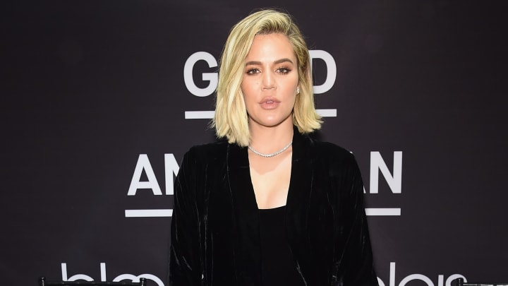 NEW YORK, NY - OCTOBER 28:  Khloe Kardashian celebrates the launch of Good American with Emma Grede at Bloomingdale's on October 28, 2017 in New York City.  (Photo by Jamie McCarthy/Getty Images fro Good American)