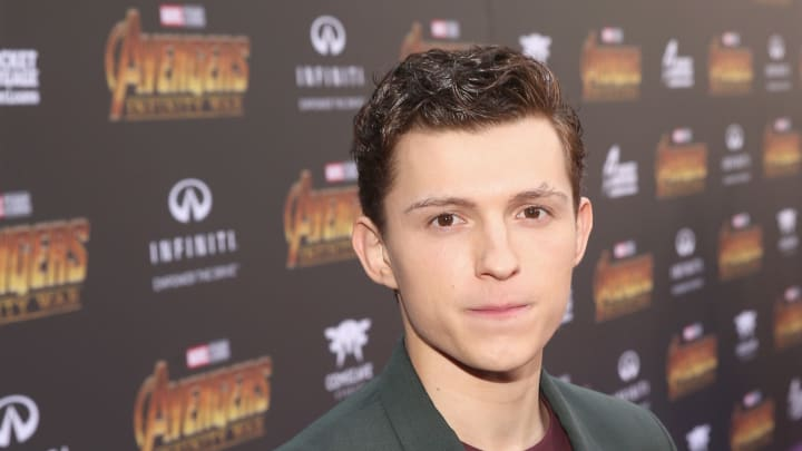 HOLLYWOOD, CA - APRIL 23:  Actor Tom Holland attends the Los Angeles Global Premiere for Marvel Studios' Avengers: Infinity War on April 23, 2018 in Hollywood, California.  (Photo by Jesse Grant/Getty Images for Disney)